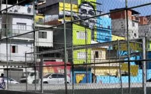 Увековечиха Габриел Жезус във фавела в Сао Пауло