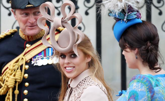Принцеса Беатрис на сватбата на Уилям и Кейт, 2011 г.