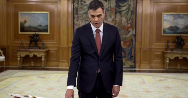 Лидерът на испанските социалисти Педро Санчес положи клетва като нов