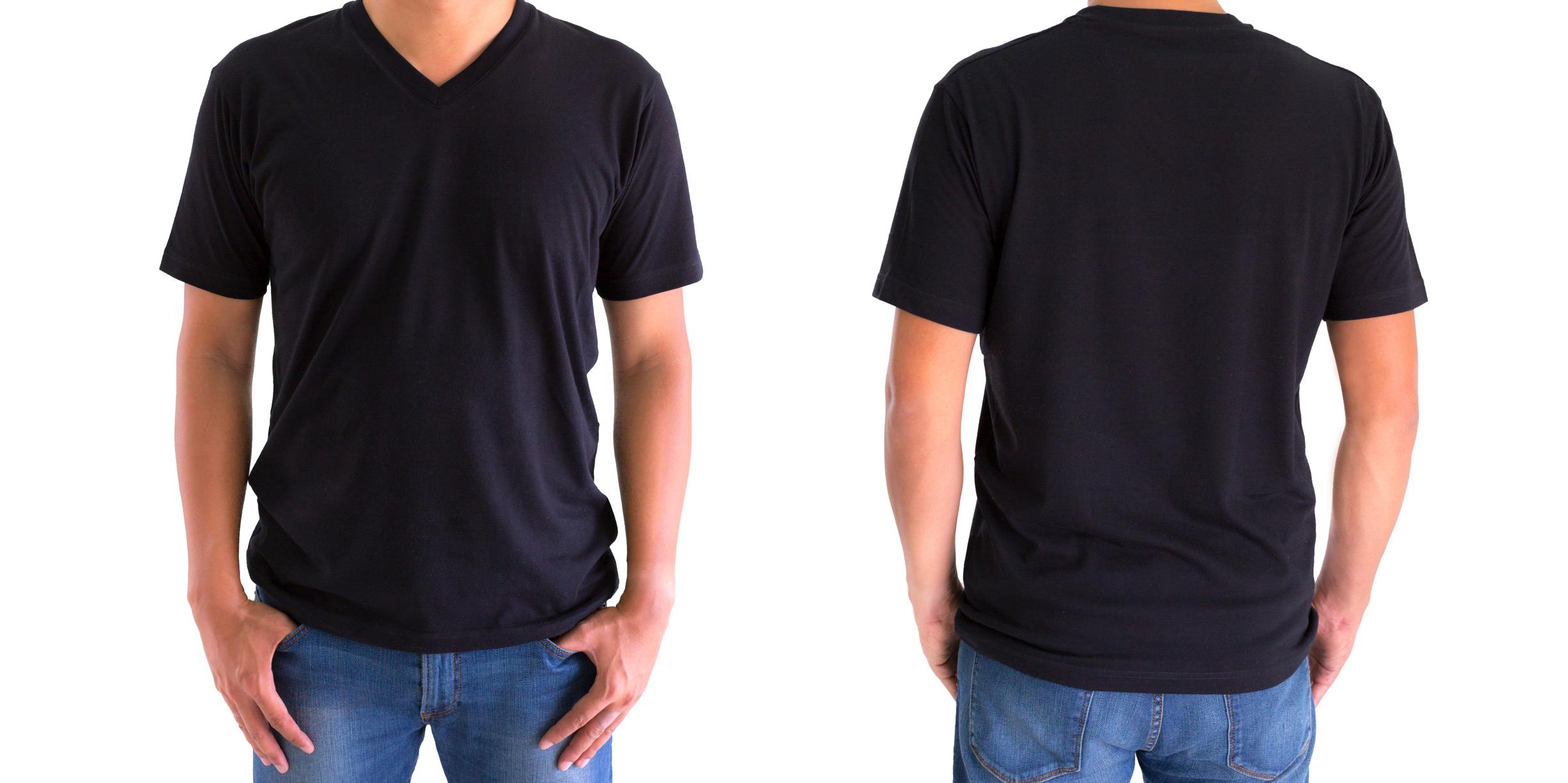 Тениска с V-образно деколте. Изчистена, семпла и обикновена. Без излишни щампи и текст.