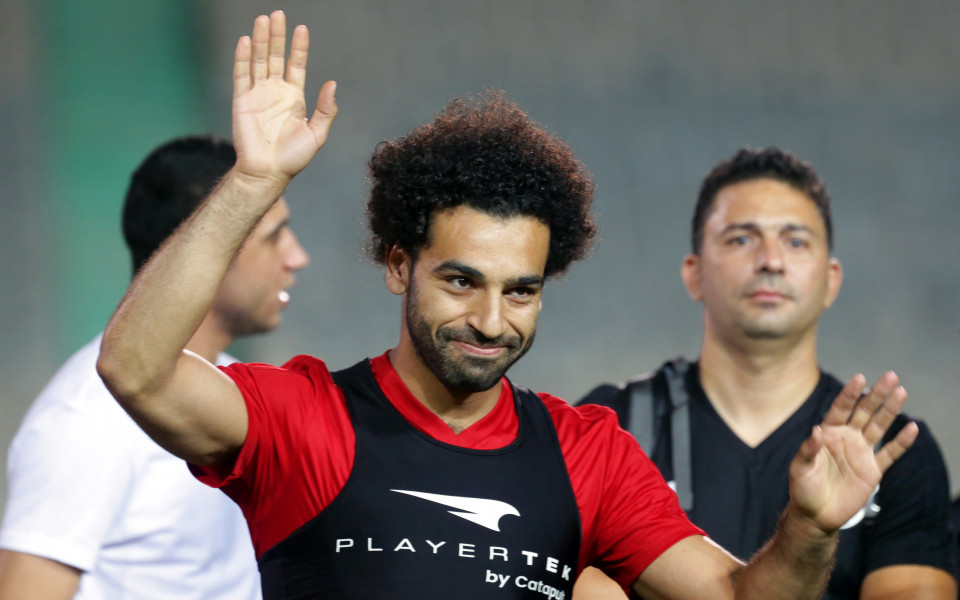 Салах се появи на последната тренировка на Египет