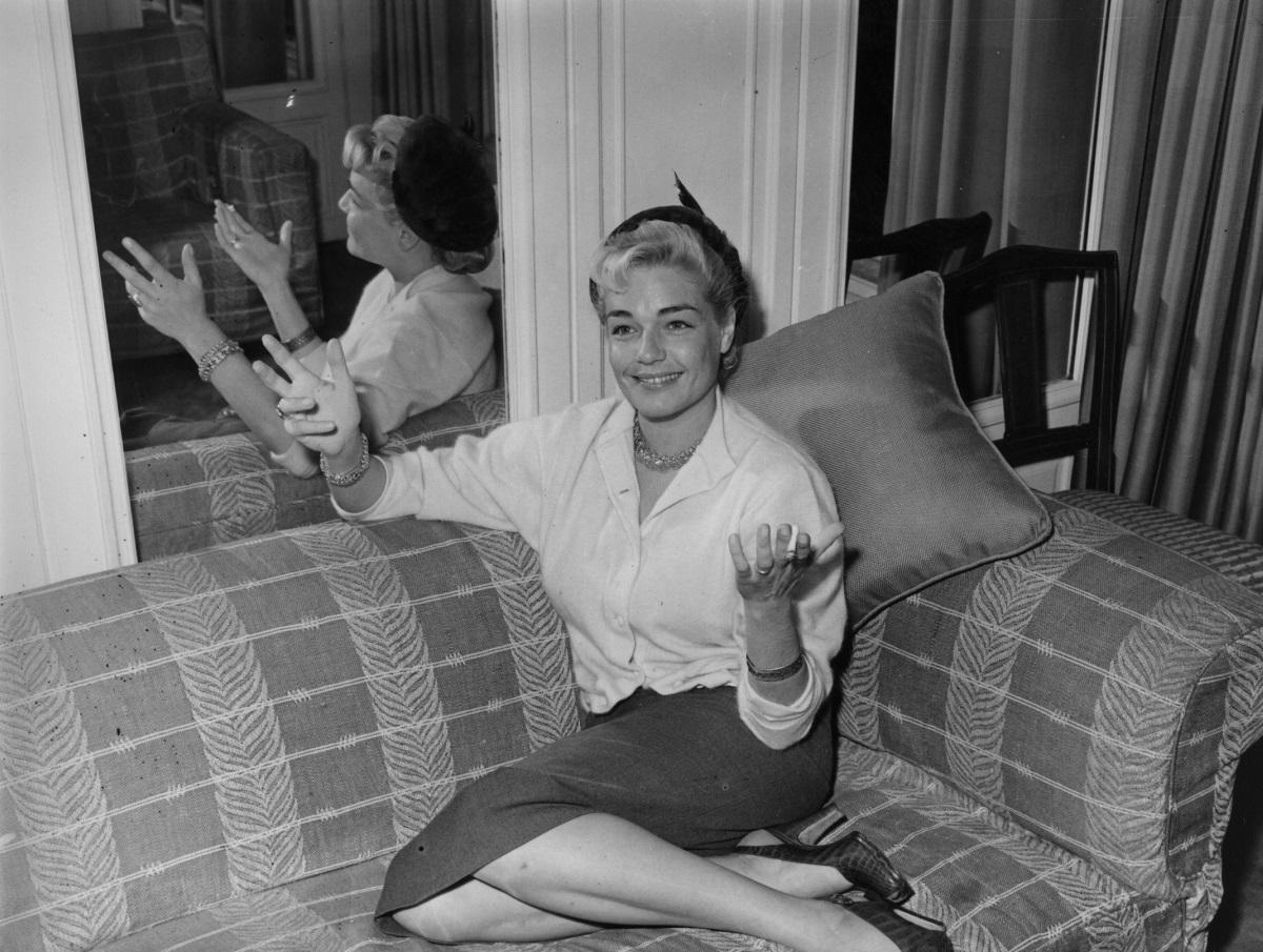 Актрисата Симон Синьоре (1921-1985 г.)