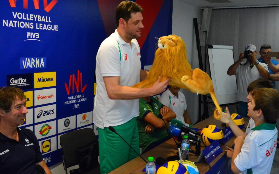 Константинов иска добър волейбол и тимът да зарадва феновете