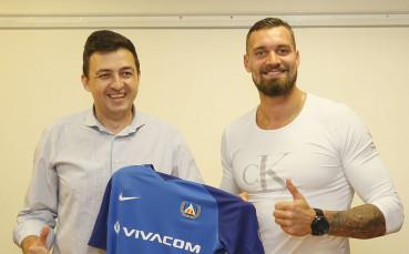 Новият вратар на Левски с първа тренировка