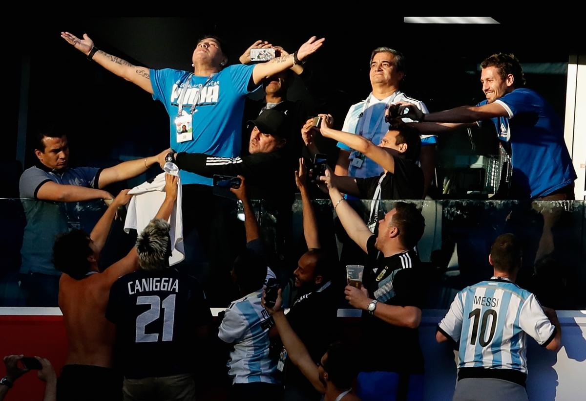 Марадона и неговите реакции