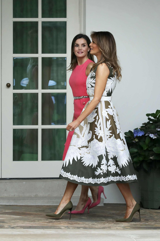 Мелания Тръмп и кралица Летисия