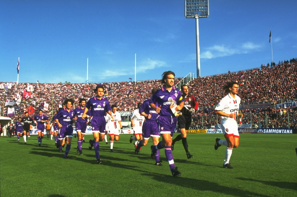 Батистута в италианското първенство, част от отбора на Фиорентина,1996 година.