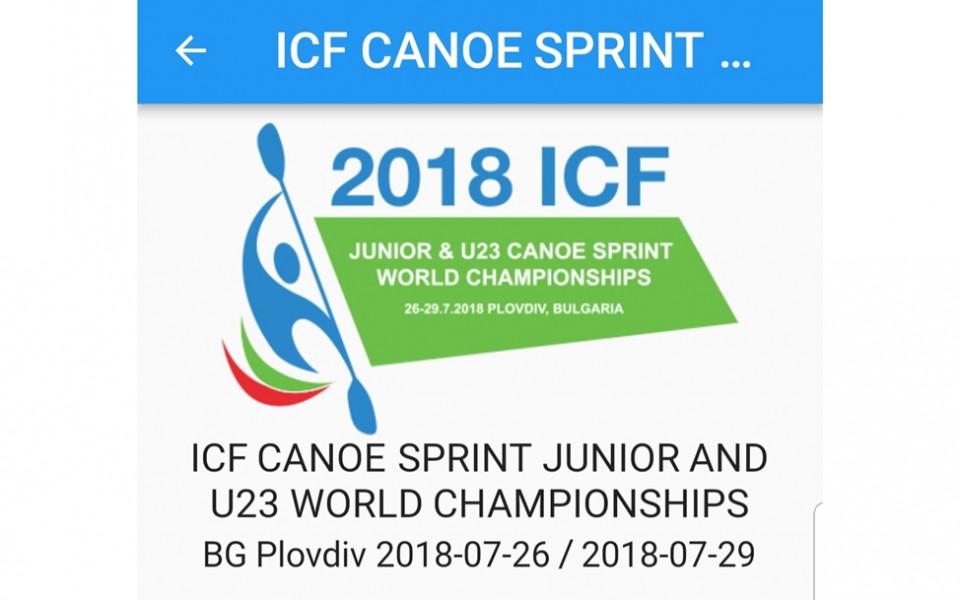 Резултатите от Световното първенство по кану-каяк  в Пловдив на живо на телефона