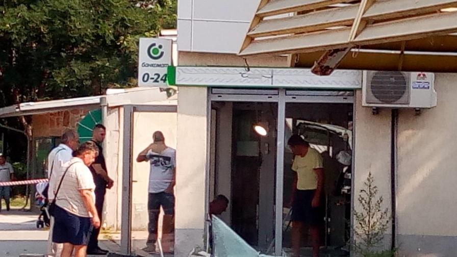 Хванаха един от крадците, взривили банкомат с 215 хил. лв.