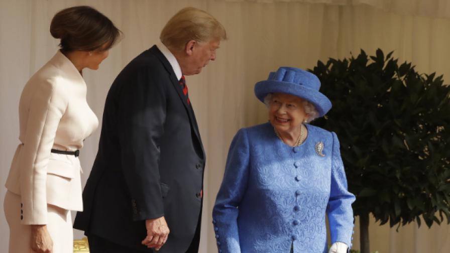 Възмущение в мрежата: Грешките на Тръмп при кралицата