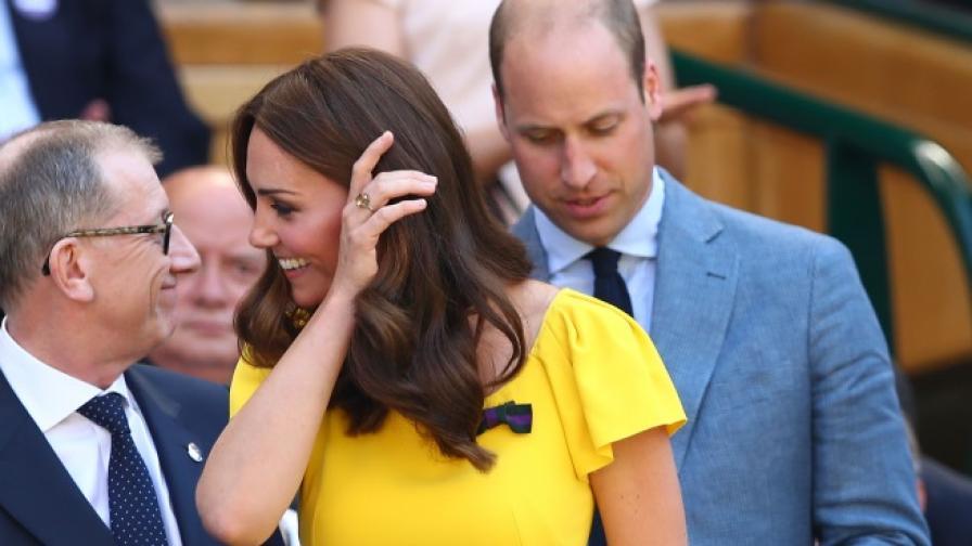 Кейт Мидълтън ослепителна в жълта рокля на Уимбълдън