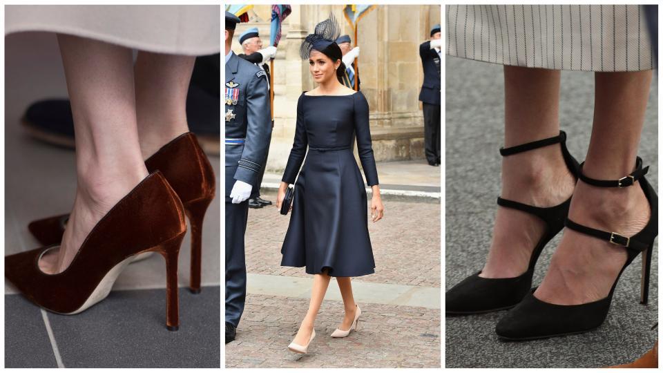 Меган носи винаги един или два номера по-големи обувки, за да й е удобно да седи права дълго време.