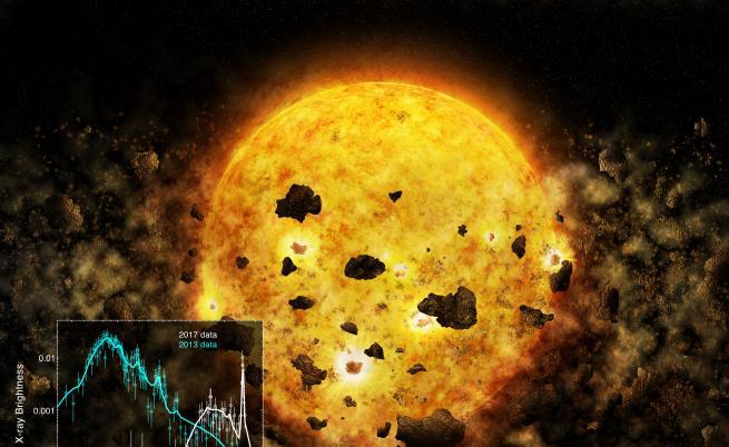Телескоп за пръв път засече звезда да унищожава планета