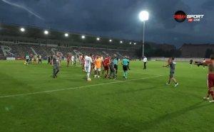 Бой между ЦСКА и Рига след мача, още 4 червени картона