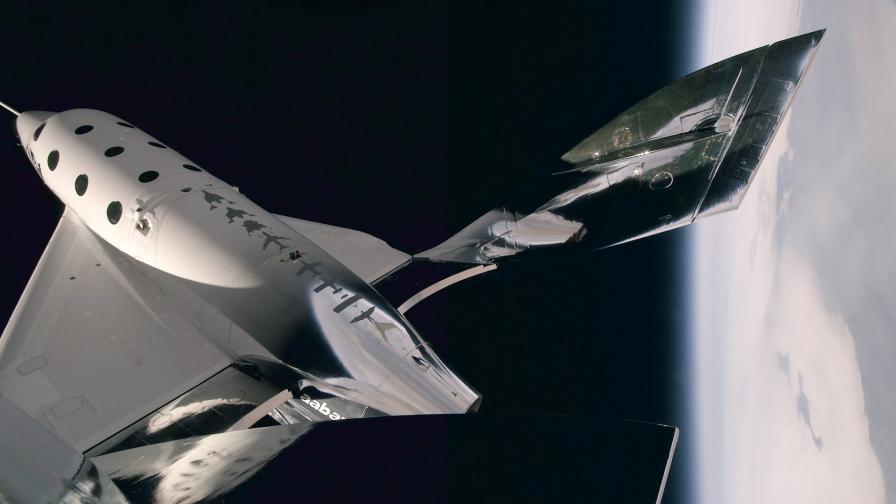 VSS Unity по време на рекордния полет