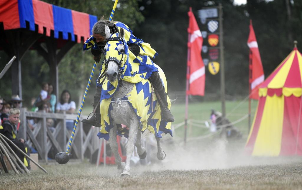 Рицарски турнир е бил гвоздеят на програмата по коронясването на Елизабет І и Джеймс І, както и по време на сватбата на принц Чарлз.