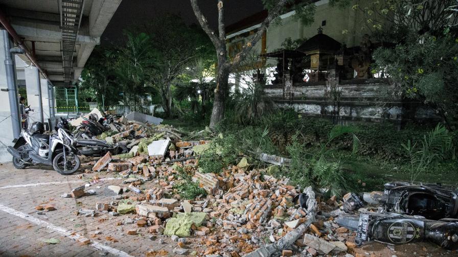 Жертви след 7 по Рихтер на индонезийския остров Ломбок