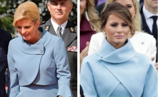 Преди седмици сравниха тоалета на Грабар-Китарович с този на Мелания, който тя носеше на церемонията по встъпването в длъжност на Доналд Тръмп