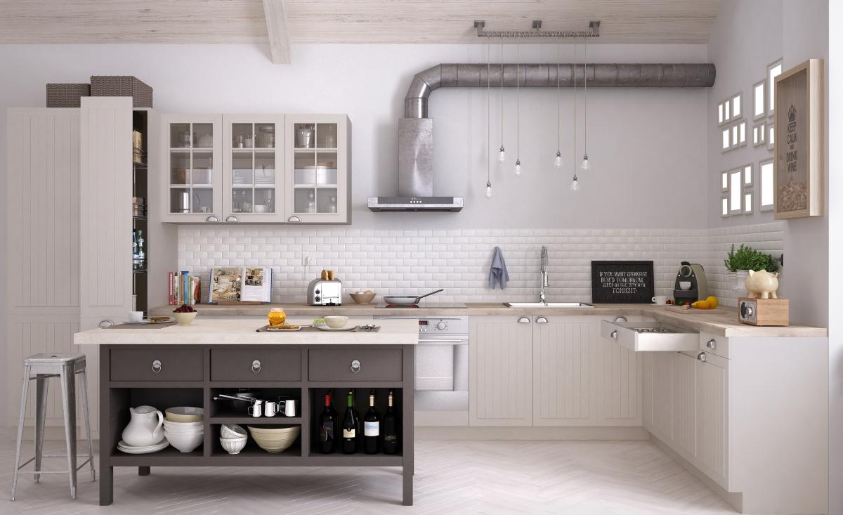 Добре е тръбата на абсорбатора да бъде покрита. Това прави кухнята да изглежда идеална.