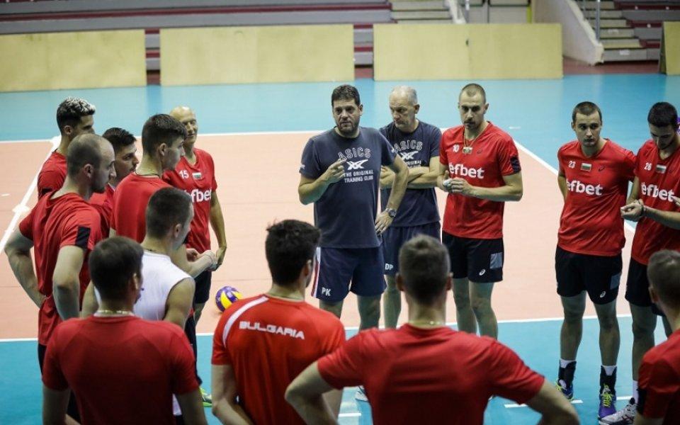 Волейболните национали се показват в София в петък