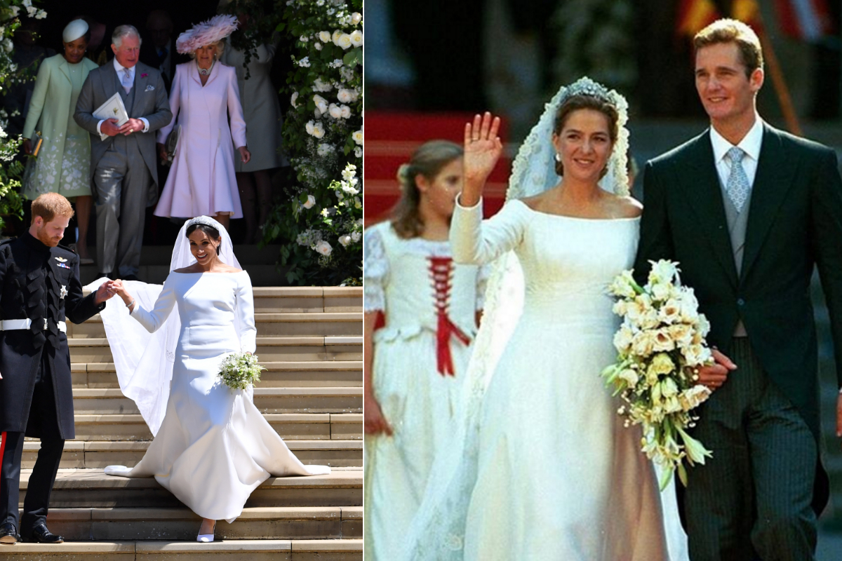 Меган Маркъл и принцесата на Испания Кристина