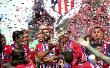 Радостта на Атлетико Мадрид със Суперкупата на Европа в снимки