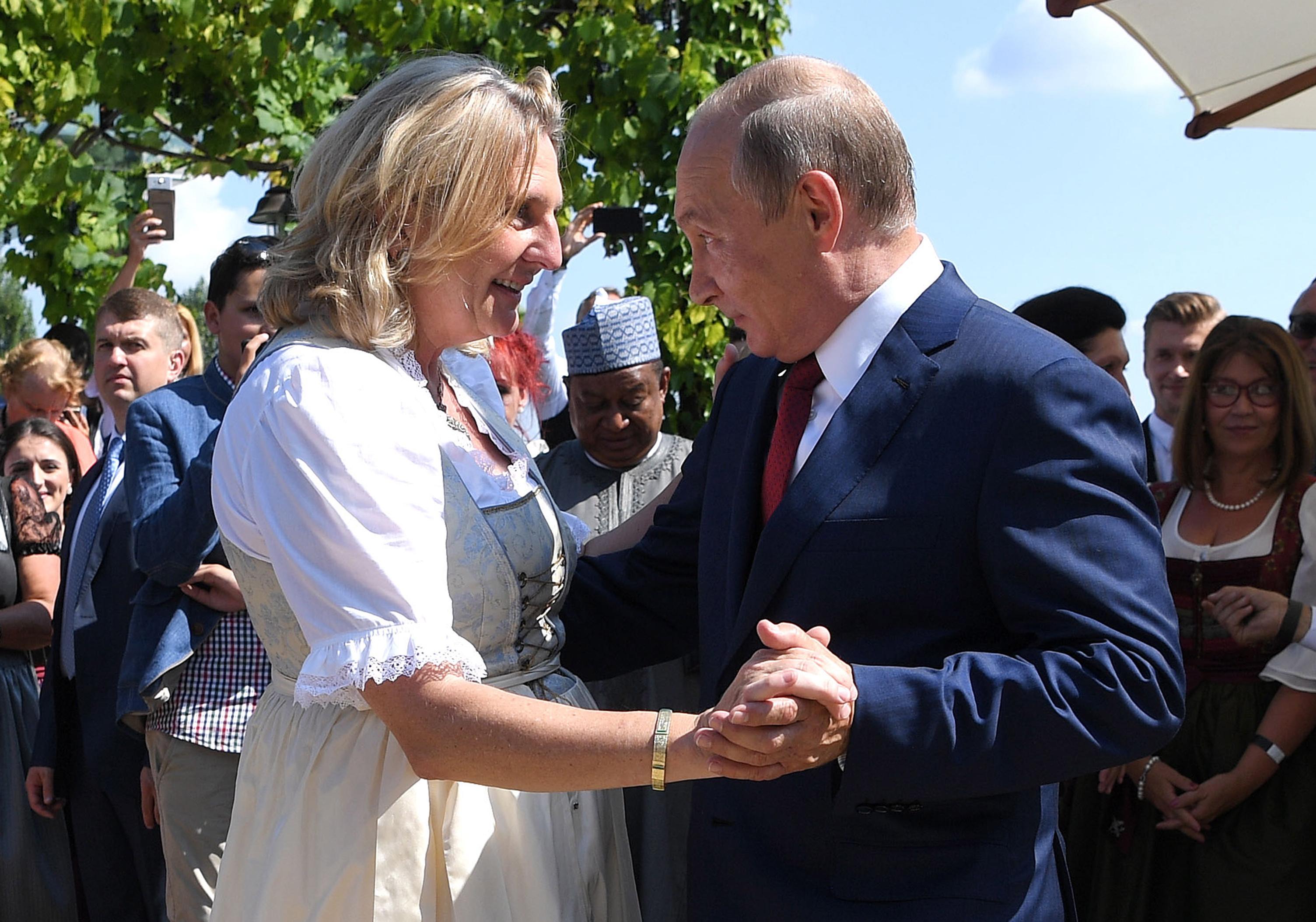 Карин Кнайсл и Владимир Путин