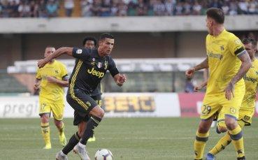 Мъчна победа за Юве в дебюта на Кристиано в Серия А (видео)