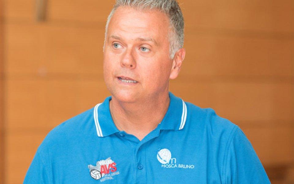 Италиански специалист с първа тренировка във ВК Левски
