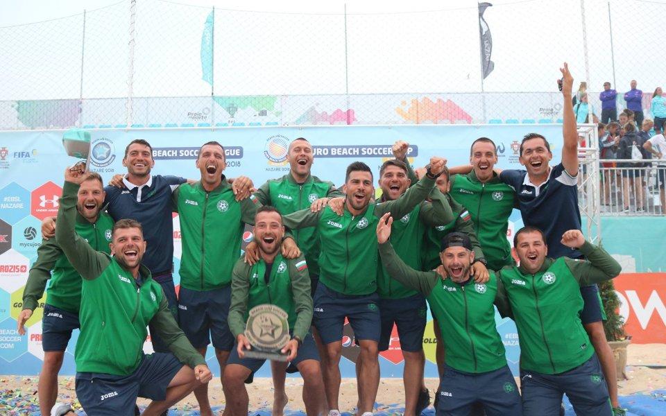 България срещу Англия, Румъния и Норвегия в ЕВРОлигата по плажен футбол