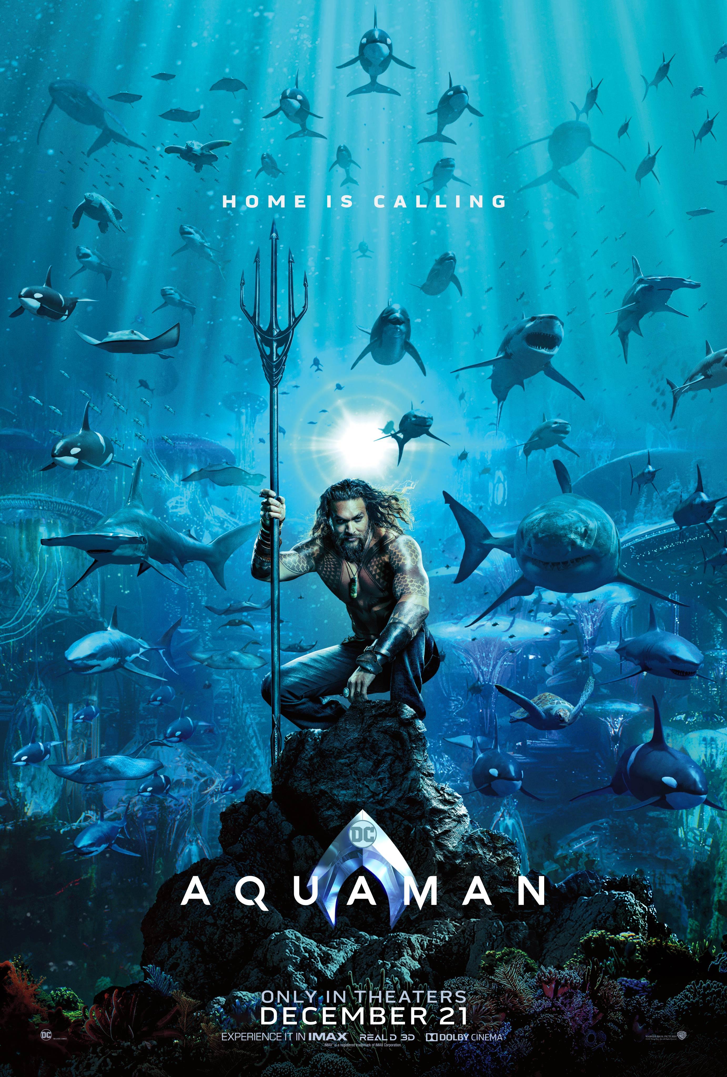 """8. Aquaman / """"Аквамен"""" – Комикси / Екшън; Режисьор: Джеймс Уан; Участват: Джейсън Момоа, Амбър Хърд, Уилям Дефо"""