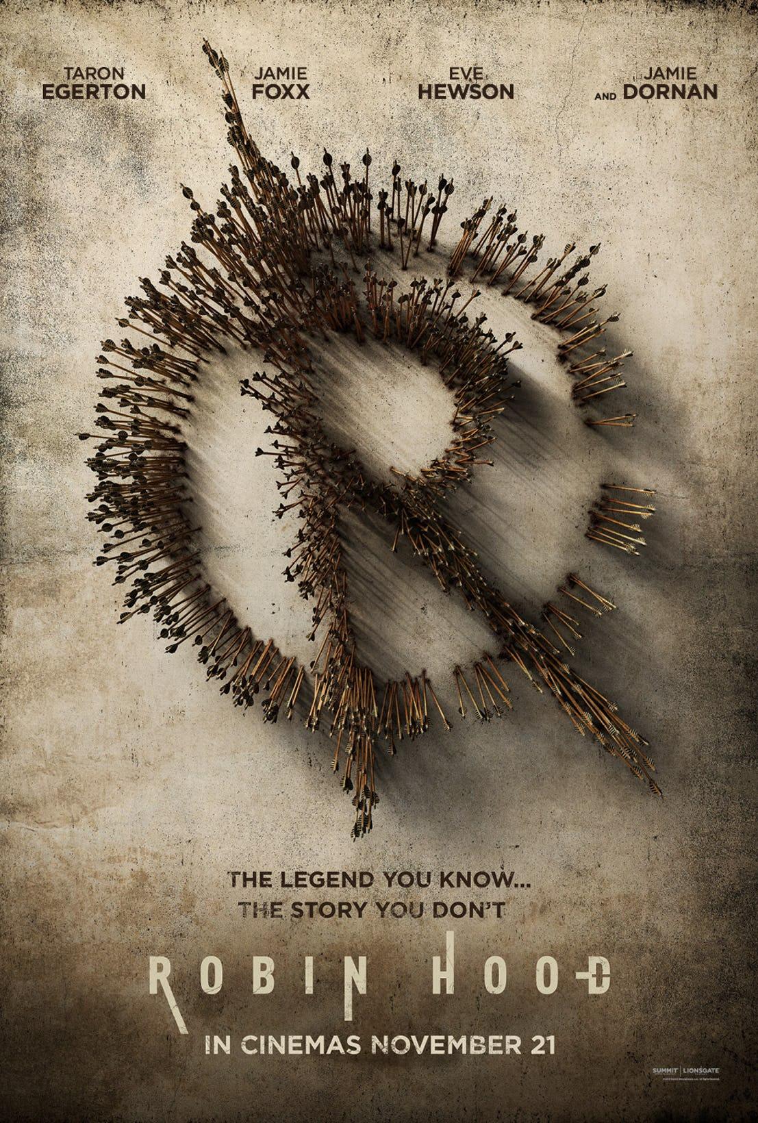 """7. Robin Hood / """"Робин Худ: Началото"""" – Екшън; Режисьор: Ото Бадхърст; Участват: Тарън Еджертън, Джейми Фокс, Бен Менделсон"""