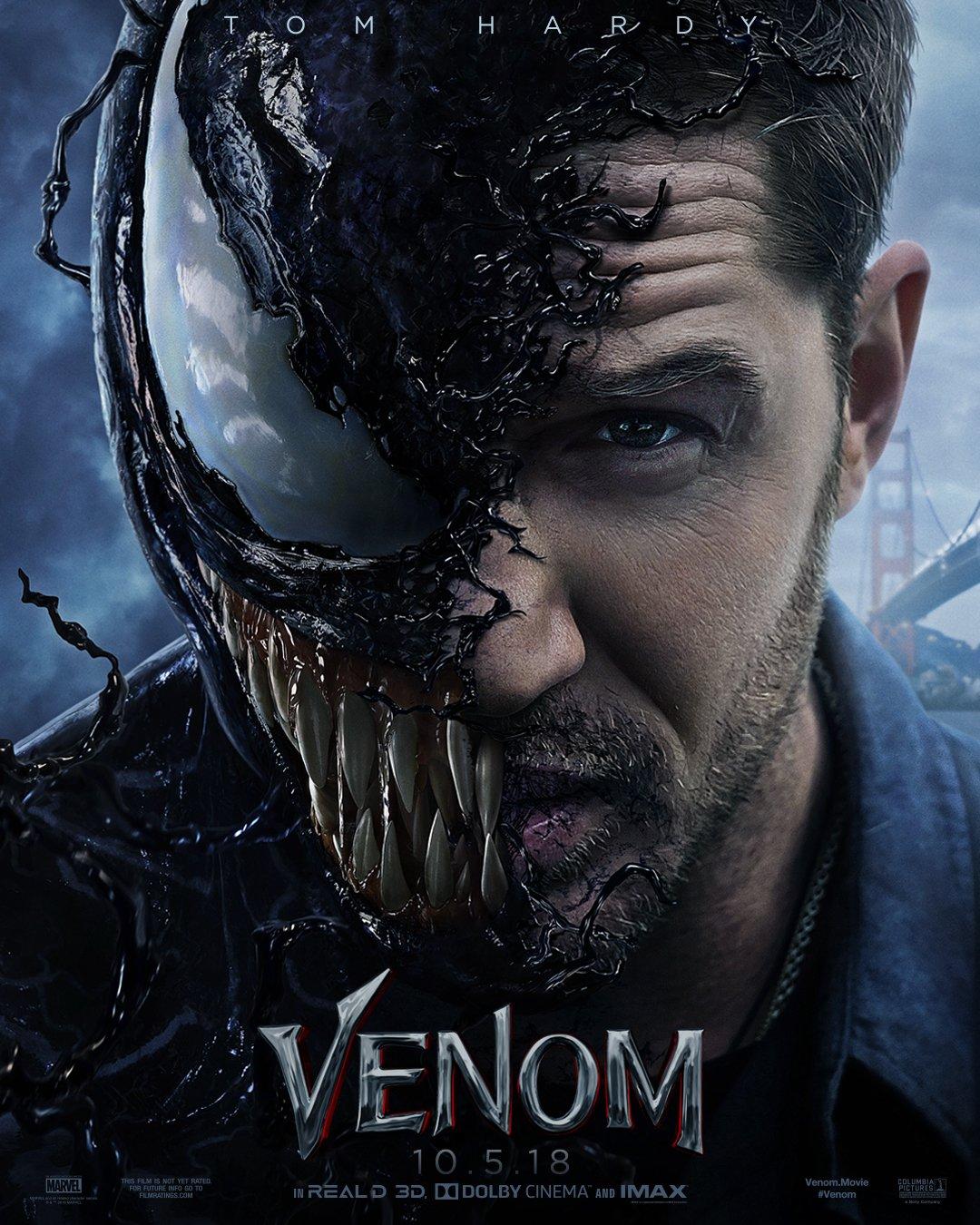 """2. Venom / """"Венъм"""" – Комикси / Екшън; Режисьор: Рубен Флешър; Участват: Том Харди, Мишел Уилямс, Риз Ахмед"""