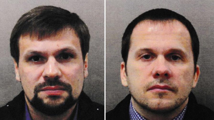 Издирваните руснаци Александър Петров и Руслан Боширов