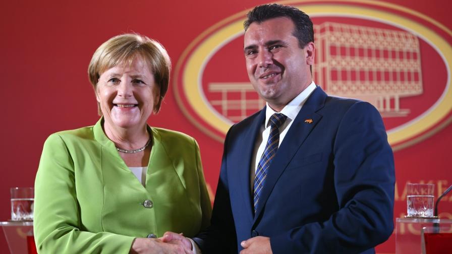 Ангела Меркел и Зоран Заев