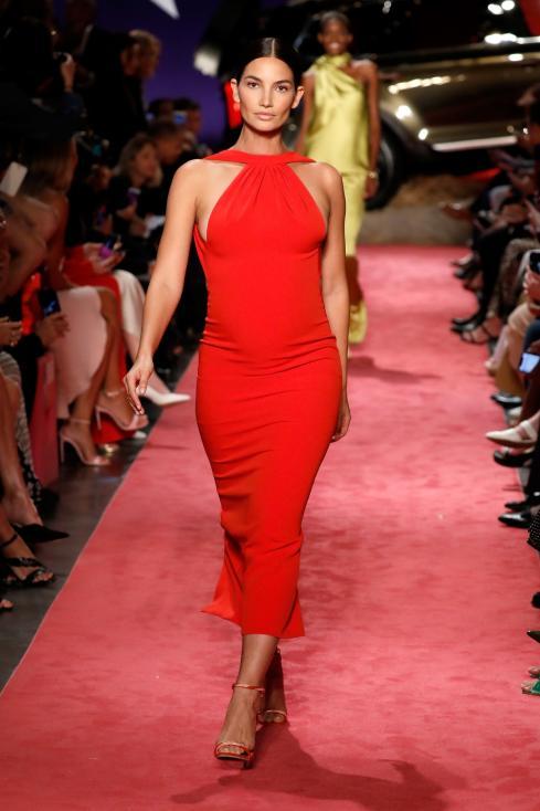 - Калифорнийската красавица Лили Олдридж изненада всички по време на Седмица на модата в Ню Йорк. 32-годишната манекенка дефилира бременна в 5-ия месец...