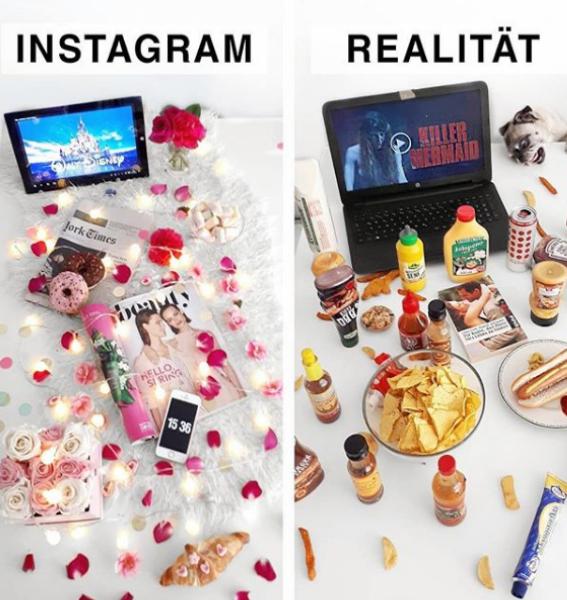 Всяко нещо си има две страни, красивите снимки в мрежата на места, хора, храна и какво ли още не - също. Доказва го едно момиче от Германия, която с голямото си чувство за хумор показва какво се случва, когато искаш да си направиш снимка като онези красивите в Инстаграм. Вижте какво се случва с нея