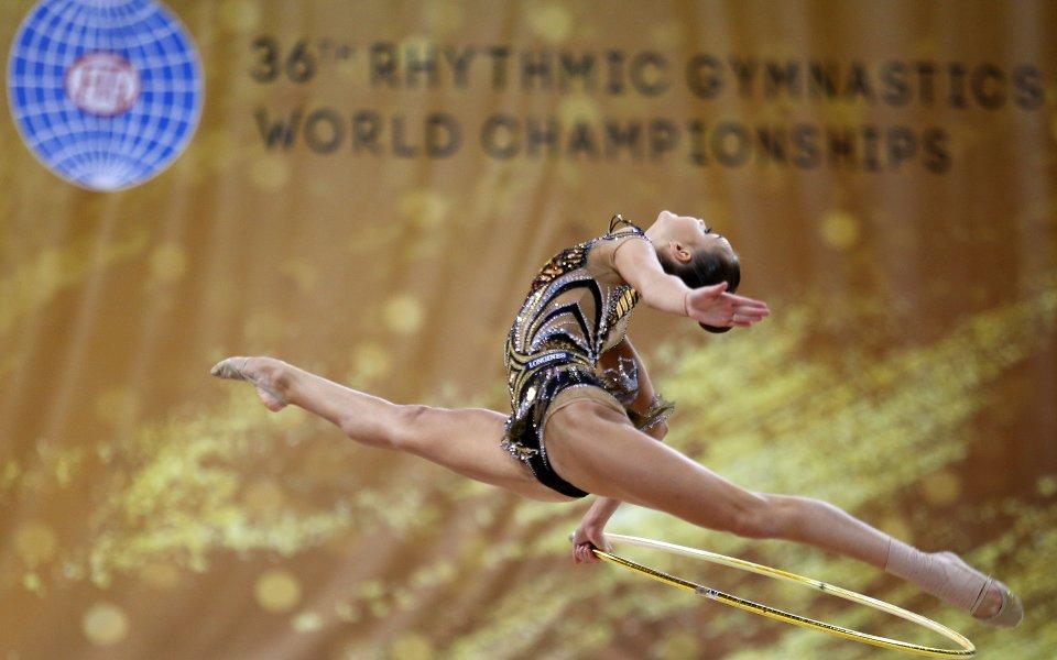 Златно начало на Световното по художествена гимнастика в София!