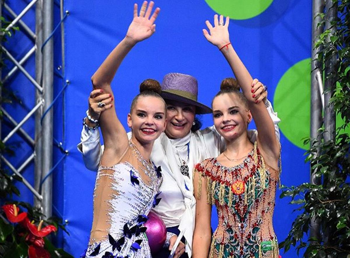 Сестрите Дина и Арина Аверини с най-влиятелната фигура в съвременната художествена гимнастика - Ирина Вибнер