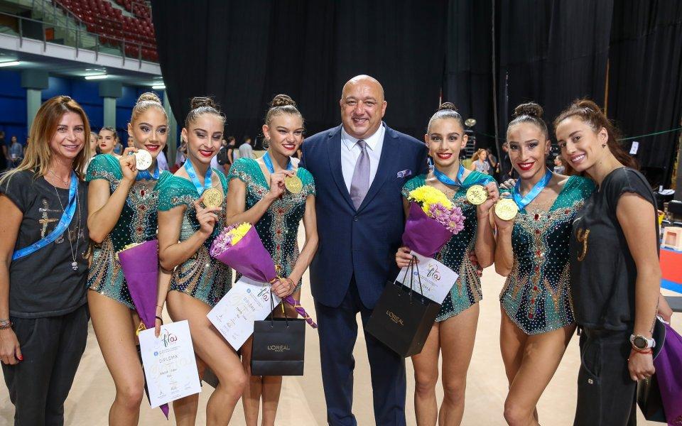 Министър Кралевнагради световните шампионки по художествена гимнастика