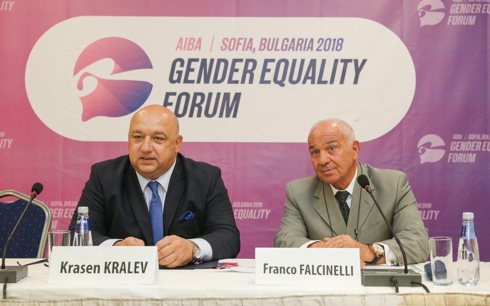Кралев: Равенството на половете в спорта изисква да оценяваме с достойнство труда и успехите на всички