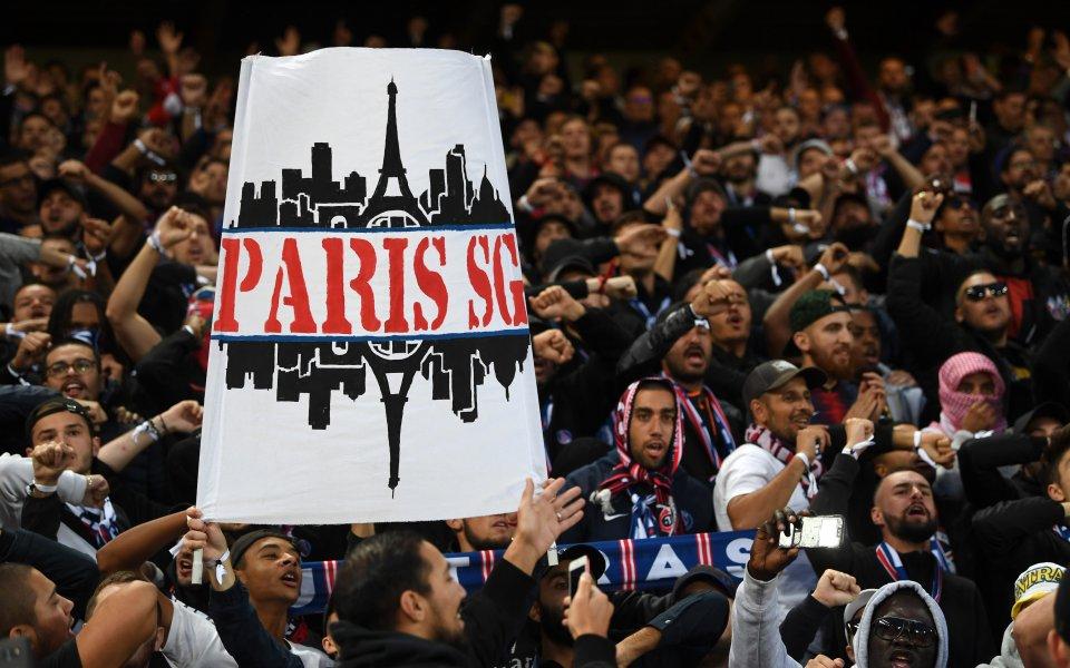 """Феновете на Пари Сен Жермен от обединението """"Collectif Ultras Paris"""""""