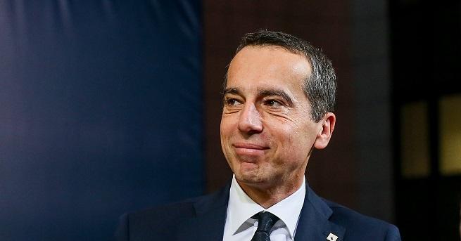 Бившият канцлер на Австрия Кристиан Керн, който е лидер на