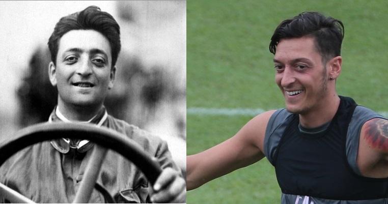 Основателят на Ферари и Месут Йозил<br /> <br /> Основателят на автомобилната компания Ферари – Енцо Ферари, умира на 14 август 1988 г. Само месец по-късно на 15 октомври е роден футболистът от германския национален отбор Месут Йозил. Погледнете снимки на двамата. Сериозно съвпадение или доказателство, че прераждането съществува? Вие избирате.