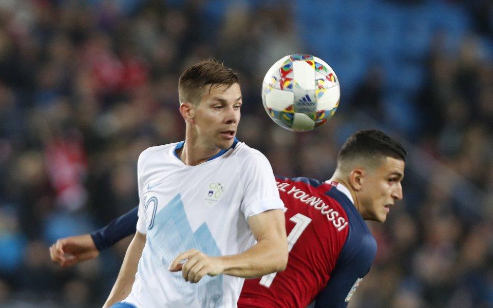 Норвегия измъкна победата срещу Словения