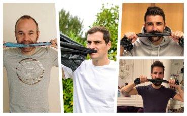 Ново предизвикателство в мрежата: Футболисти с найлонови торбички в уста