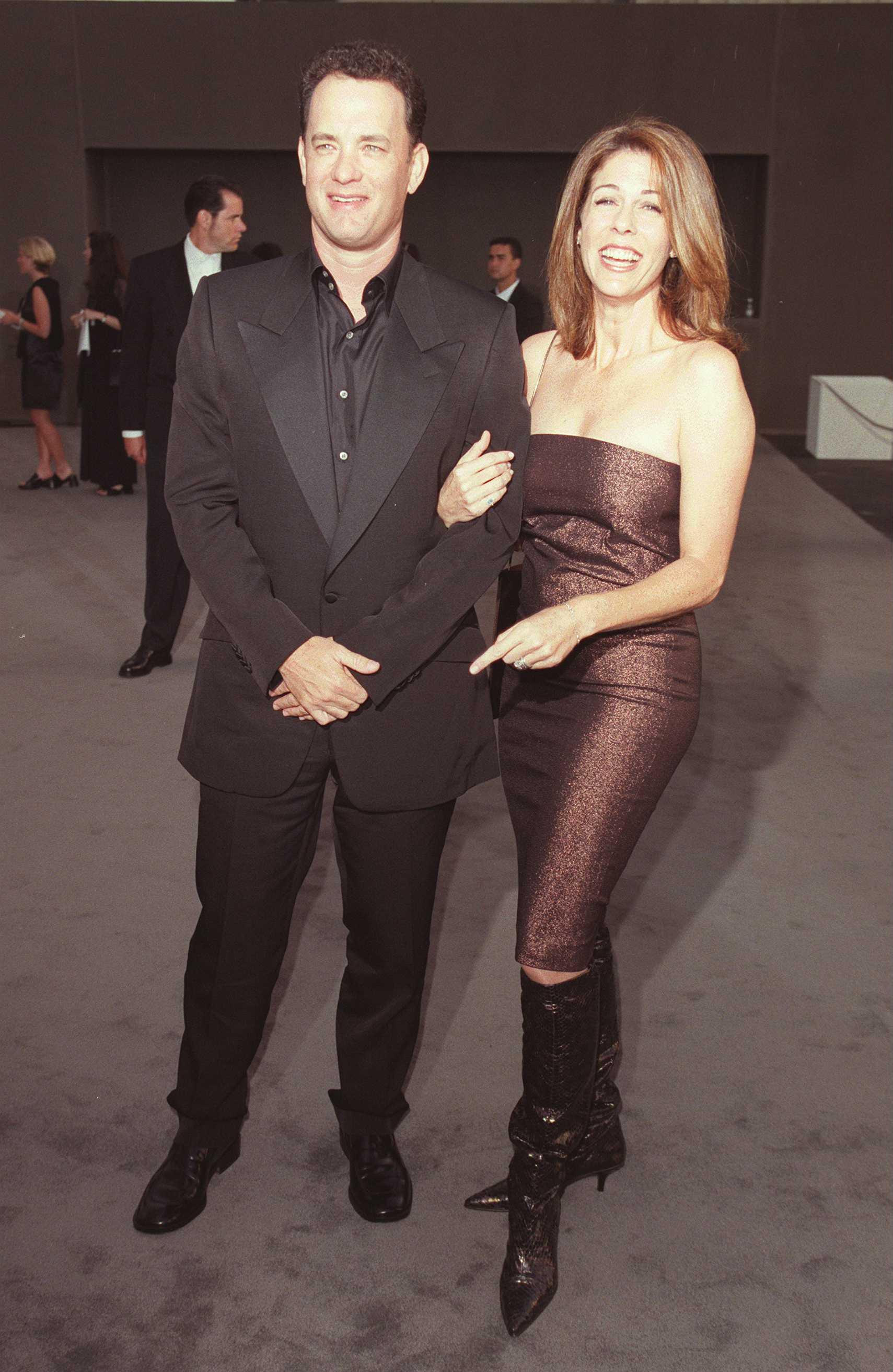 Том Ханкс и съпругата му Рита Уилсън (1997 г.)