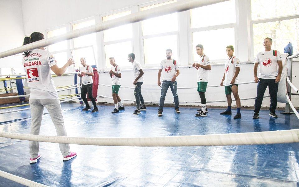 """""""Отбор на надеждата"""" тренира бокс с шампионката Галина Иванова"""