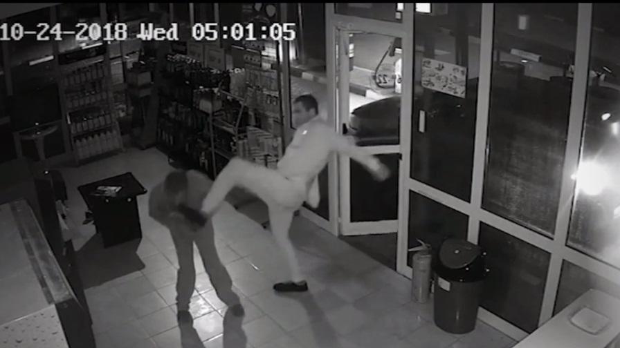 <p>Брутално нападение над служител на бензиностанция</p>