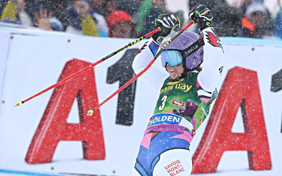 Теса Уорли спечели първото състезание за Световната купа